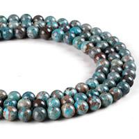 Natürliche Streifen Achat Perlen, rund, verschiedene Größen vorhanden, blau, Bohrung:ca. 1mm, verkauft per ca. 15.5 ZollInch Strang