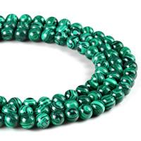 Malachit Perle, rund, synthetisch, verschiedene Größen vorhanden, Bohrung:ca. 1mm, verkauft per ca. 15 ZollInch Strang