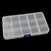 Schmuck Nagelkasten, Kunststoff, Rechteck, transparent & 15 Zellen, klar, 172x100x22mm, verkauft von PC