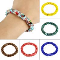 Kristall Armbänder, facettierte, mehrere Farben vorhanden, 3x4mm, verkauft per ca. 6 ZollInch Strang