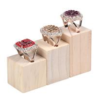 Holz Ringständer, Rechteck, 50x30x30mm, 5SetsSatz/Menge, 3PCs/setzen, verkauft von Menge