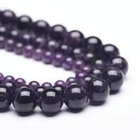 Natürliche Amethyst Perlen, rund, Februar Birthstone & verschiedene Größen vorhanden, Bohrung:ca. 1mm, verkauft per ca. 15 ZollInch Strang