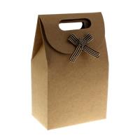 Mode Geschenkbeutel, Papier, mit Stoff, mit Brief Muster, 100x60x155mm, 10PCs/Tasche, verkauft von Tasche
