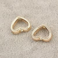 Zinklegierung Herz Perlen, goldfarben plattiert, frei von Nickel, Blei & Kadmium, 11x13x3mm, Bohrung:ca. 1.5mm, 100PCs/Menge, verkauft von Menge