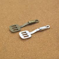 Zinklegierung Werkzeug Anhänger, Schaufel, plattiert, keine, frei von Nickel, Blei & Kadmium, 12x40x4mm, Bohrung:ca. 1.5mm, 100PCs/Menge, verkauft von Menge