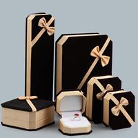 Baumwollsamt Schmuckset Kasten, mit Kleber Film & Ripsband, verschiedene Stile für Wahl, verkauft von PC
