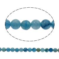 Drachenvenen Achat Perle, rund, verschiedene Größen vorhanden, Bohrung:ca. 1mm, verkauft per ca. 15 ZollInch Strang