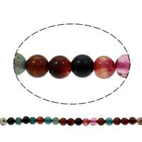 Natürliche Drachen Venen Achat Perlen, Drachenvenen Achat, rund, 6mm, Bohrung:ca. 1mm, ca. 20PCs/Strang, verkauft per ca. 15 ZollInch Strang