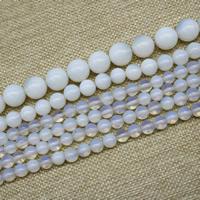 Opal Perlen, rund, synthetisch, verschiedene Größen vorhanden, Länge:ca. 15 ZollInch, ca. 3SträngeStrang/Tasche, verkauft von Tasche