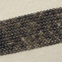 Natürliche Rauchquarz Perlen, rund, verschiedene Größen vorhanden & facettierte, verkauft per ca. 15 ZollInch Strang