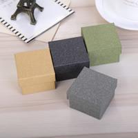 Papier Einzelring Kasten, mit Schwamm, Quadrat, keine, 50x50x35mm, 50PCs/Menge, verkauft von Menge