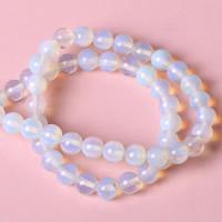 Opal Perlen, rund, verschiedene Größen vorhanden, Bohrung:ca. 1mm, verkauft per ca. 15 ZollInch Strang
