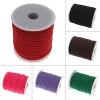 Mode Schnur Schmuck, Milch-Seide, mit Kunststoffspule, keine, 5mm, ca. 20HofHof/Spule, verkauft von Spule