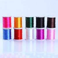 Kristall Faden, mit Kunststoffspule, elastisch, gemischte Farben, 1mm, 10PCs/Menge, ca. 10m/PC, verkauft von Menge