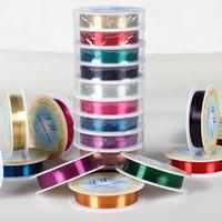 Messing Draht, Messingdraht, mit Kunststoffspule, plattiert, verschiedene Größen vorhanden, gemischte Farben, frei von Blei & Kadmium, 2Taschen/Menge, 10PCs/Tasche, verkauft von Menge