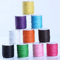 Wachsschnur, Gewachste Hanfschnur, mit Kunststoffspule, gemischte Farben, 1mm, 10PCs/Menge, ca. 10m/PC, verkauft von Menge
