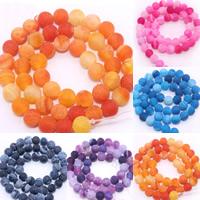 Auswitterung Achat Perle, rund, verschiedene Größen vorhanden, keine, Bohrung:ca. 1mm, verkauft per ca. 15 ZollInch Strang
