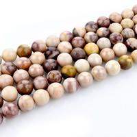 Dotter Stein Perlen, rund, natürlich, verschiedene Größen vorhanden, Bohrung:ca. 1mm, verkauft per ca. 15 ZollInch Strang