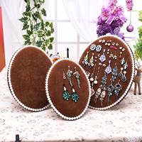 Baumwollsamt Ohrringständer, mit Kunststoff Perlen, verschiedene Größen vorhanden, keine, frei von Nickel, Blei & Kadmium, verkauft von PC