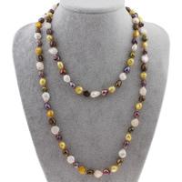 Süßwasserperlen Pullover Halskette, Natürliche kultivierte Süßwasserperlen, Keishi, 9-11mm, verkauft per ca. 46 ZollInch Strang
