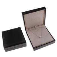 Baumwollsamt Halskettenkasten, Karton, mit Baumwollsamt, Rechteck, 126x120x42mm, verkauft von PC