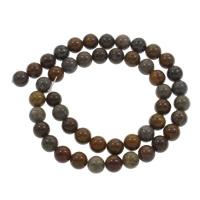 Dotter Stein Perle, rund, aus China & verschiedene Größen vorhanden, Bohrung:ca. 1mm, verkauft per ca. 15 ZollInch Strang