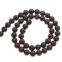 Jaspis Brecciated Perle, rund, verschiedene Größen vorhanden, Bohrung:ca. 1mm, verkauft per ca. 15 ZollInch Strang