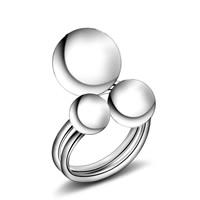 Messing Manschette Fingerring, versilbert, einstellbar & für Frau, frei von Blei & Kadmium, 20mm, Größe:6-8, verkauft von PC