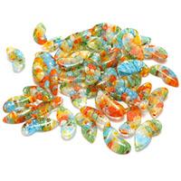Millefiori Scheibe Lampwork Perlen, mit Millefiori Scheibe & kein Loch, 9x20x3.50mm, 5Taschen/Menge, ca. 50PCs/Tasche, verkauft von Menge