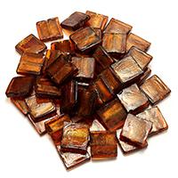 Silberfolie Lampwork Perlen, Quadrat, 20.5x20x5-6mm, Bohrung:ca. 1-2mm, 2Taschen/Menge, 30PCs/Tasche, verkauft von Menge