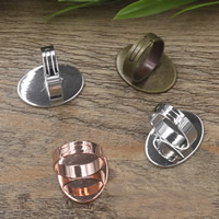 Messing Ringschiene, flachoval, plattiert, olika innerdiameter, för val & einstellbar, keine, frei von Nickel, Blei & Kadmium, 13-25mm, Größe:6-9, 40PCs/Tasche, verkauft von Tasche