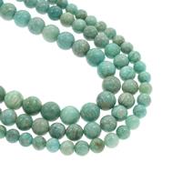 Amazonit Perlen, rund, natürlich, verschiedene Größen vorhanden, Grad AAA, Bohrung:ca. 1mm, verkauft per ca. 15.5 ZollInch Strang