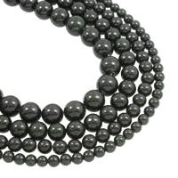 Grüne Goldstein Perlen, grüner Goldsandstein, rund, natürlich, verschiedene Größen vorhanden, Bohrung:ca. 1mm, verkauft per ca. 15.5 ZollInch Strang