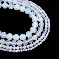 Opal Perlen, rund, natürlich, verschiedene Größen vorhanden, Bohrung:ca. 1mm, verkauft per ca. 15.5 ZollInch Strang