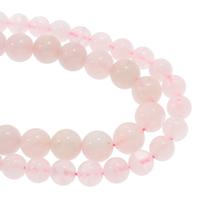 Natürliche Rosenquarz Perlen, rund, verschiedene Größen vorhanden, verkauft per ca. 15.5 ZollInch Strang