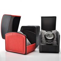 Uhr Schmuckkasten, PU Leder, mit Kunststoff, keine, frei von Nickel, Blei & Kadmium, 100x75x85mm, 5PCs/Menge, verkauft von Menge