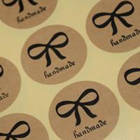 Abdichten von Aufkleber, Kraftpapier, flache Runde, Made Hand, klebrig & mit Brief Muster, 30mm, 100SetsSatz/Menge, 12PCs/setzen, verkauft von Menge
