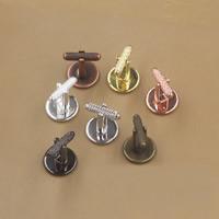 Manschettenknöpfe-Ergebnisse, Messing, flache Runde, plattiert, olika innerdiameter, för val, keine, frei von Nickel, Blei & Kadmium, 12-20mm, 20PCs/Tasche, verkauft von Tasche