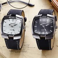 PU Leder Armbanduhr, mit Zinklegierung Zifferblatt & Glas & Edelstahl, plattiert, einstellbar & für den Menschen, keine, frei von Nickel, Blei & Kadmium, 44x11mm, 30mm, Länge:ca. 9.8 ZollInch, verkauft von PC
