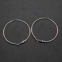 Eisen Ohrhaken, plattiert, keine, frei von Blei & Kadmium, 60x1mm, 10PCs/Tasche, verkauft von Tasche