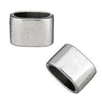 Zinklegierung Armbänder Zubehöre, Platinfarbe platiniert, Schwärzen, frei von Nickel, Blei & Kadmium, 9x13.50x9mm, Bohrung:ca. 10x6.5mm, 100PCs/Menge, verkauft von Menge