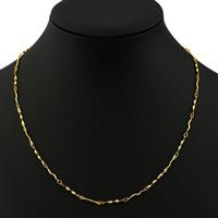 Messingkette Halskette, Messing, goldfarben plattiert, Bar-Kette, frei von Nickel, Blei & Kadmium, 2mm, verkauft per ca. 17 ZollInch Strang