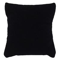 Baumwollsamt Schmuckständer Kissen, mit Schwamm, Rechteck, schwarz, 50-70x60-80x40-60mm, 20PCs/Tasche, verkauft von Tasche