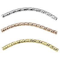 Messing Rohr Perlen, gebogenes Rohr, plattiert, verschiedene Größen vorhanden, keine, frei von Nickel, Blei & Kadmium, 50PCs/Menge, verkauft von Menge
