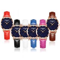 ONTHEEDGE®-Frauen-Schmuck-Uhren, Kuhhaut, mit Glas & Edelstahl, goldfarben plattiert, 30 m wasserdicht & einstellbar & für Frau, keine, frei von Nickel, Blei & Kadmium, 36.5x8.5mm, 15mm, Länge:ca. 9.4 ZollInch, verkauft von PC