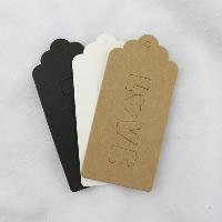 Kraftpapier Label- Tag, Rechteck, Wort Liebe, gemischte Farben, 100x50mm, 150PCs/Menge, verkauft von Menge