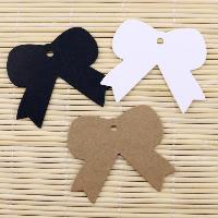 Kraftpapier Label- Tag, Schleife, keine, 50x55mm, 100PCs/Menge, verkauft von Menge