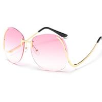 Art- und WeiseSonnenbrillen , PC Kunststoff, mit PC Kunststofflinse & Zinklegierung, plattiert, unisex, keine, 150x63x150mm, verkauft von PC