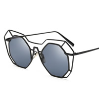 Art- und WeiseSonnenbrillen , Zinklegierung, mit PC Kunststofflinse, goldfarben plattiert, für Frau, keine, frei von Blei & Kadmium, 146x50x143mm, verkauft von PC