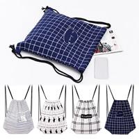 Segeltuch Rucksack, mit Leinen- Baumwolle, Rechteck, verschiedene Muster für Wahl & mit Brief Muster, 350x400mm, verkauft von PC